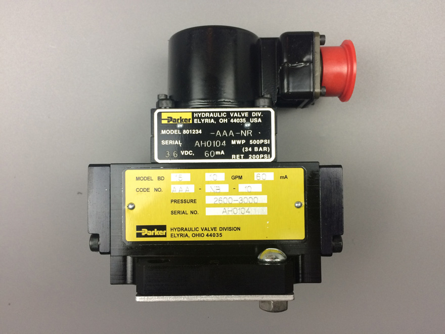 PARKER Servo Valve, Model:BD15AAANB10